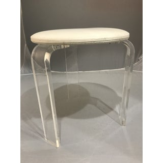 1970s Vintage Lucite Vanity Stool Preview