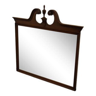 Vintage Mahogany Traditional Chippendale Style Dresser Mirror For Sale