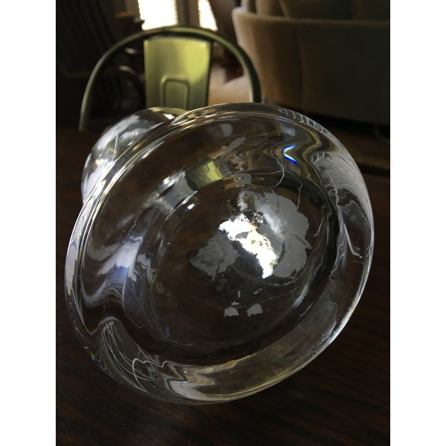 Mid-Century Cut Glass Floral Decanter For Sale - Image 4 of 5