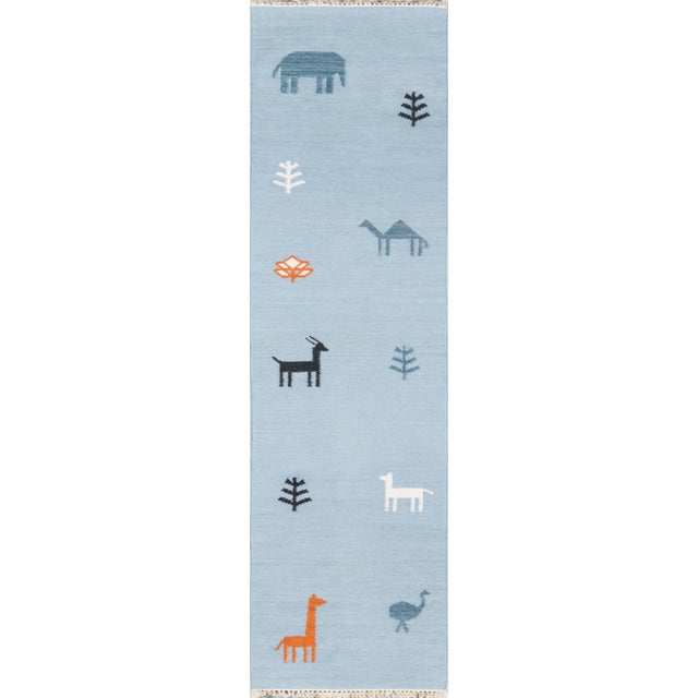 "Erin Gates by Momeni Thompson Porter Blue Hand Woven Wool Area Rug - 5' X 7'6"" For Sale - Image 4 of 9"