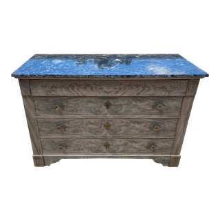 19th Century Louis Philippe Marble Top Chest For Sale