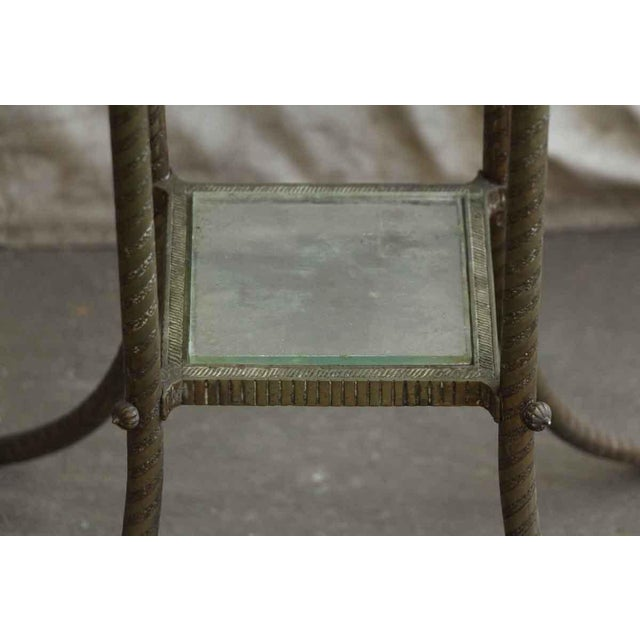 20th Century Traditional Marble Top Side Console Table With Small Glass Shelf For Sale - Image 6 of 10