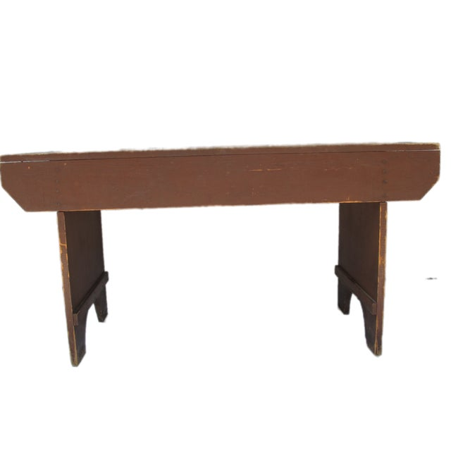 19th Century Antique Red Bench - Image 3 of 11