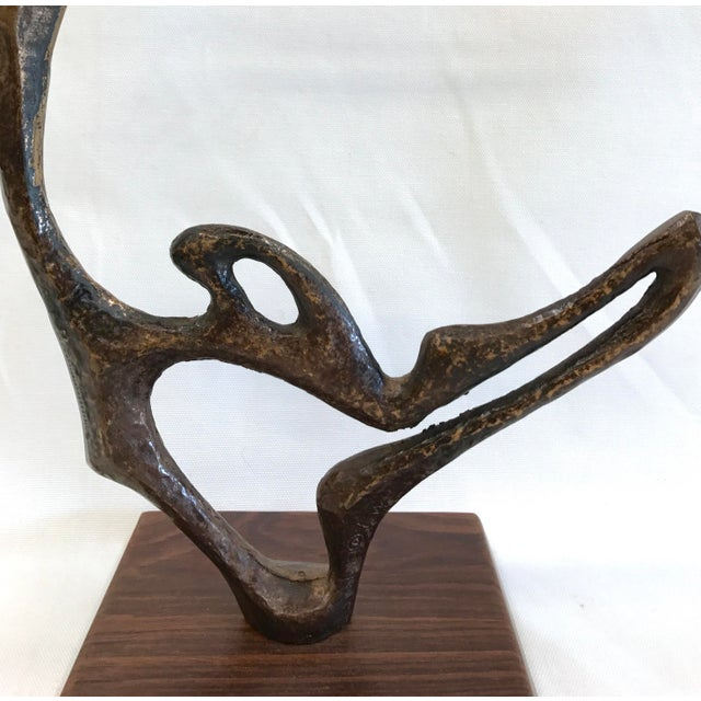 Abstract Frederick Weinberg Vintage Bronze Sculpture For Sale - Image 3 of 10