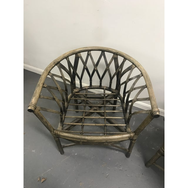 1970s 1970s Hatched Rattan Chairs - a Pair For Sale - Image 5 of 6