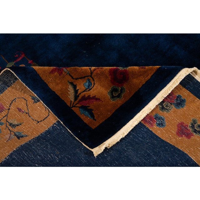 Art Deco Early 20th Century Antique Art Deco Chinese Wool Rug For Sale - Image 3 of 13