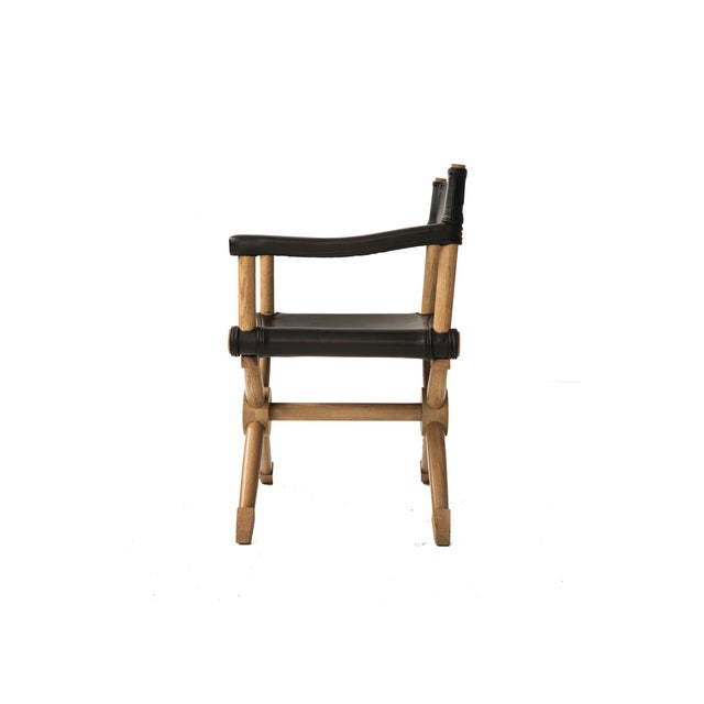"Paul Radocanachi ""Rodo"" Cerused Oak Campaign Chair - Image 7 of 7"