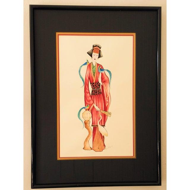 Vintage Signed Geisha Painting - Image 2 of 7