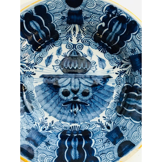 Traditional 18th Century Delft Plate For Sale - Image 3 of 5