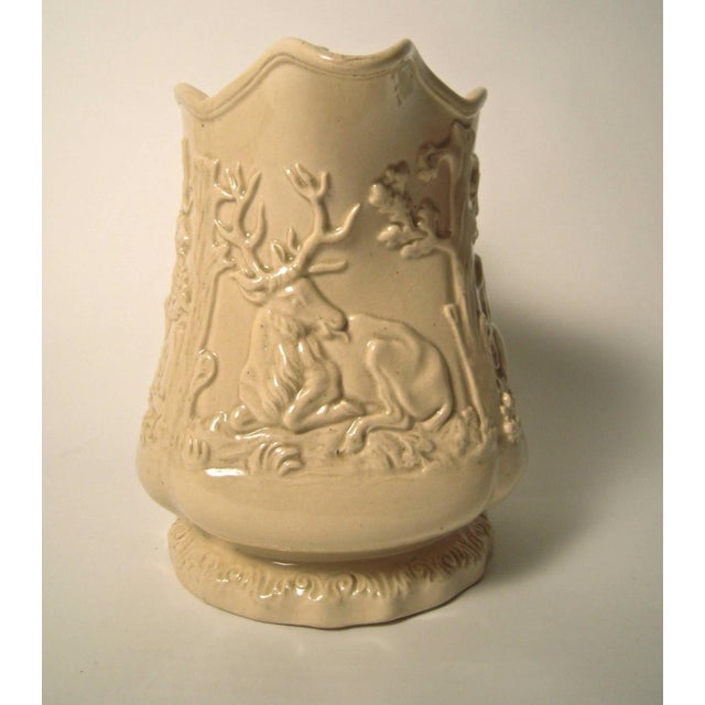 Large 19th Century American Stag and Doe Pitcher with Hound Dog Handle - Image 2 of 8