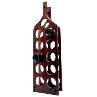 Mid-Century Modern Cocobolo Wine Rack For Sale