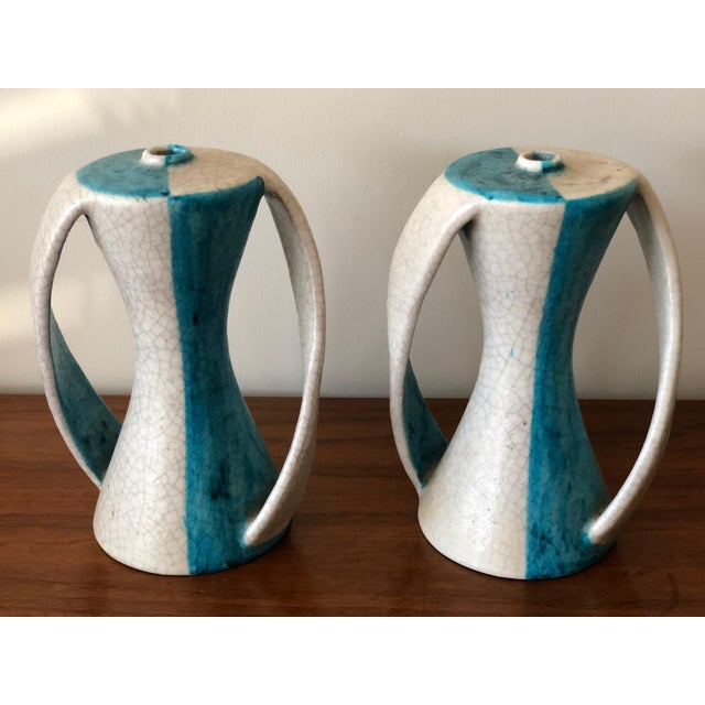 1950s Vintage G. Gambone Ceramic Lamp Bases - A Pair For Sale - Image 9 of 11