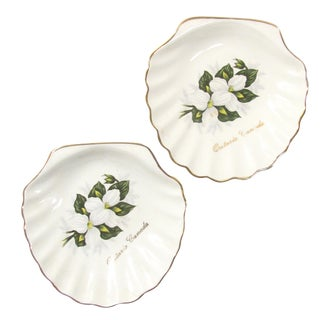 English Lord Nelson Souvenir Shell Dishes, A Pair For Sale