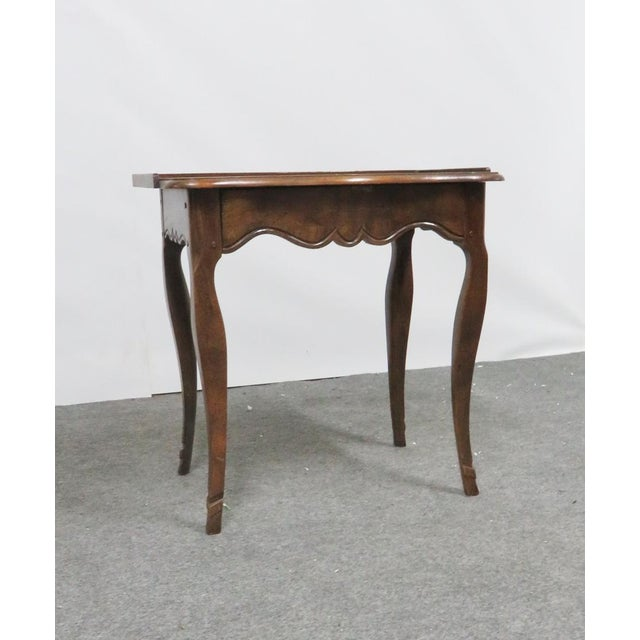 Baker Furniture Company Louis XV Baker Walnut Nightstand For Sale - Image 4 of 9