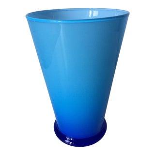 Carlo Moretti Turquoise Cased Glass Tumbler/Vase