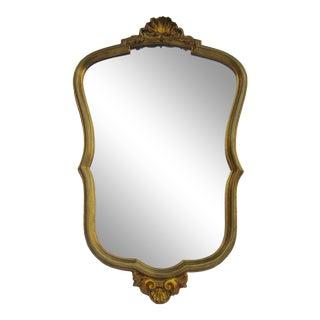 C.1950s-60s Vintage Italian Hand Gilt Shell Motif Florentine Mirror For Sale
