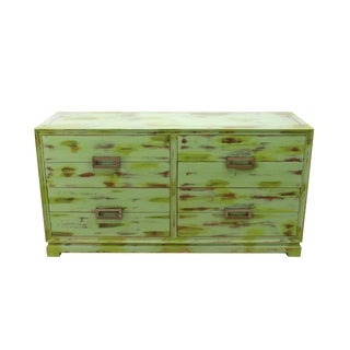 Mid Century 8-Drawers Green Dresser