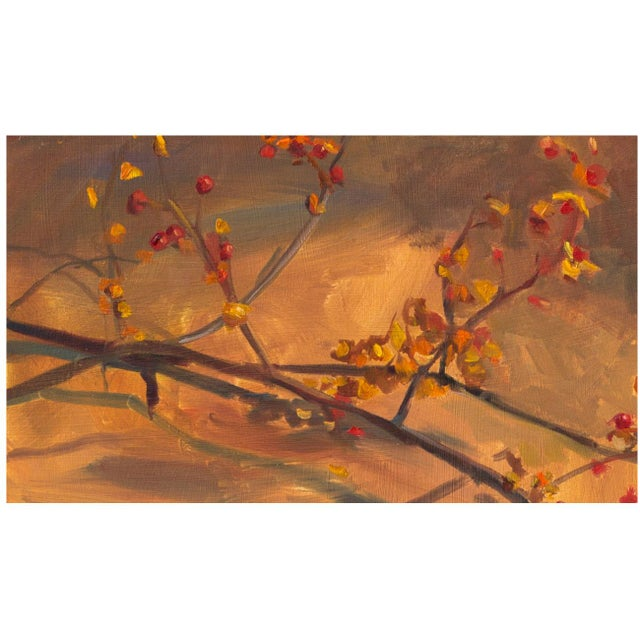 """Gold """"Oriental Bittersweet"""" Painting For Sale - Image 8 of 8"""