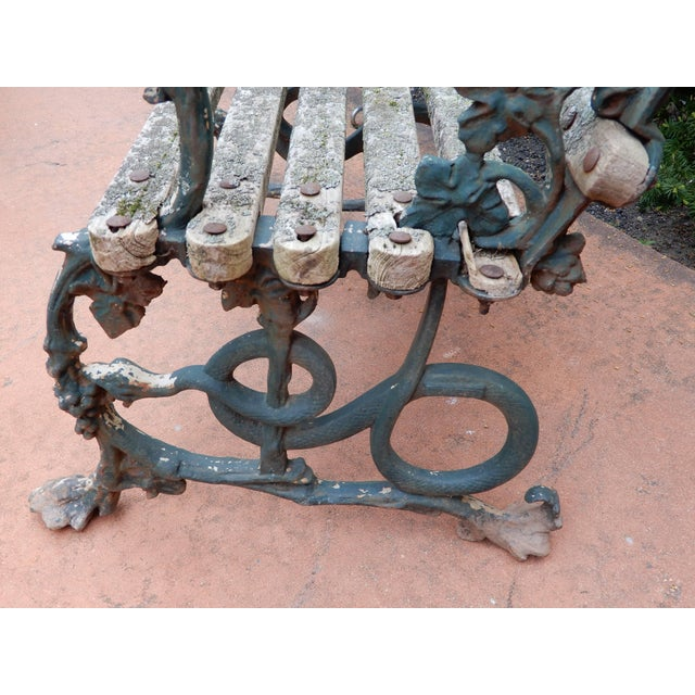 Coalbrookdale Foundry Coalbrookdale Antique Cast Iron Garden Chair For Sale - Image 4 of 9