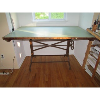 1920s Industrial Architect's Dietzgen Cast Iron Drafting Table Preview