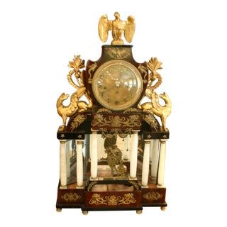 Viennese Biedermeier Mantle Clock, 1850 For Sale