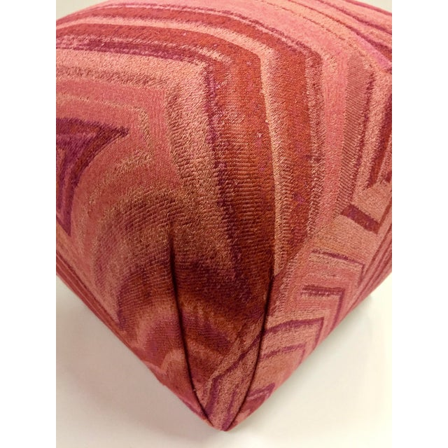 Boho Chic 1980s Vintage Pink Coral Mineral Soufflé Pouf For Sale - Image 3 of 5