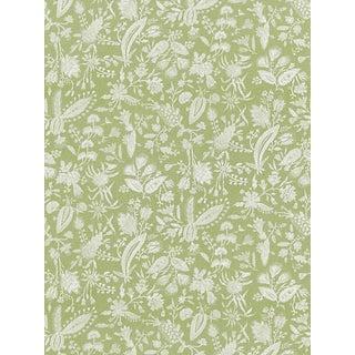 Sample, Scalamandre Tulia Linen Print, Willow Fabric For Sale