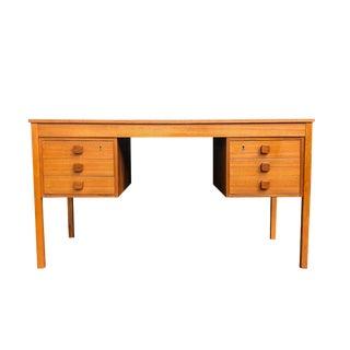 Danish Mid-Century Modern Domino Mobler Teak 6 Drawer Desk For Sale