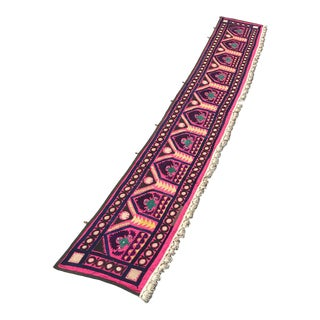 "Suzani Boho Wall Hanging Fabric / Table Runner - 9' x 1'4"" For Sale"