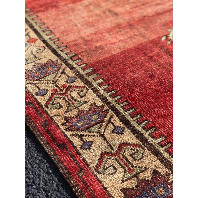"Antique Turkish Oushak Runner - 5'1"" x 11'5"" - Image 9 of 12"