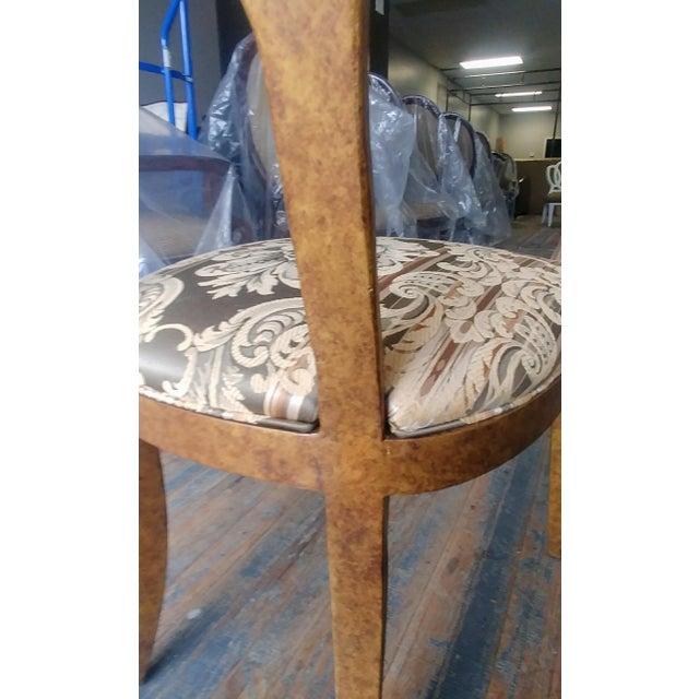 Henredon Furniture Arabesque Solid Antiqued Metal Ladies Desk Chair For Sale - Image 10 of 12