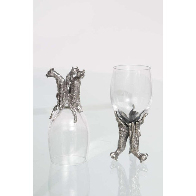 1980s Whimsical Animal Themed Grouping of Stemware - Set of 26 For Sale - Image 5 of 10