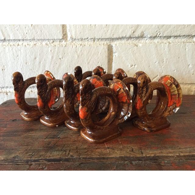 Handmade Thanksgiving Turkey Napkin Rings - S/8 - Image 2 of 10