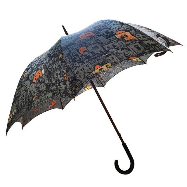 Gray 1986 Umbrella by Piero Fornasetti For Sale - Image 8 of 8
