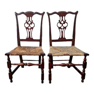 Mid 18th Century VintageTransitional Chippendale Chairs- A Pair For Sale