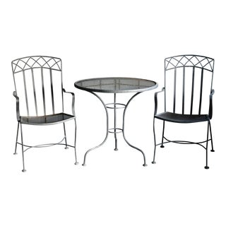 Salterini Style Patio Set, 3 Pieces For Sale