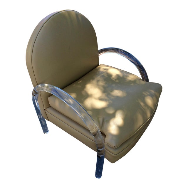 Charles Hollis Jones Lucite Chair - Image 1 of 8