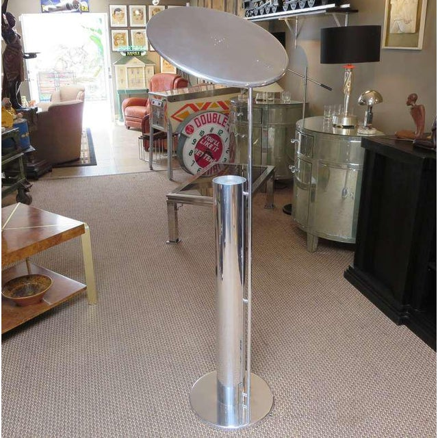 Polished reflector flip top floor lamp after george nelson chairish although the creator of this lamp is unidentified it certainly takes its cue from aloadofball Images