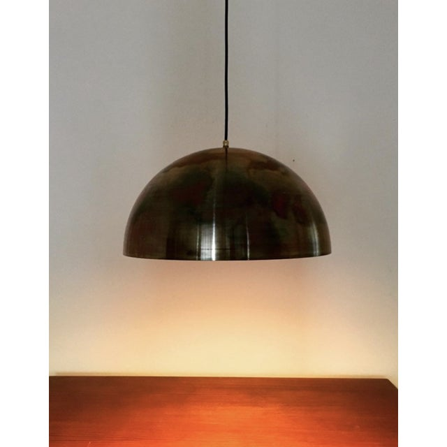 Mid-Century Modern Patinated Copper Dome Pendant Lamp by Beisl For Sale - Image 4 of 9