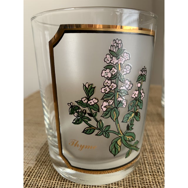 Culver Ltd. 1950s Vintage Culver 'Thyme & Parsley' Old Fashion Glasses - a Pair For Sale - Image 4 of 12