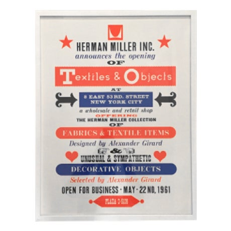 Herman Miller Textiles & Objects Print Only - Image 1 of 2