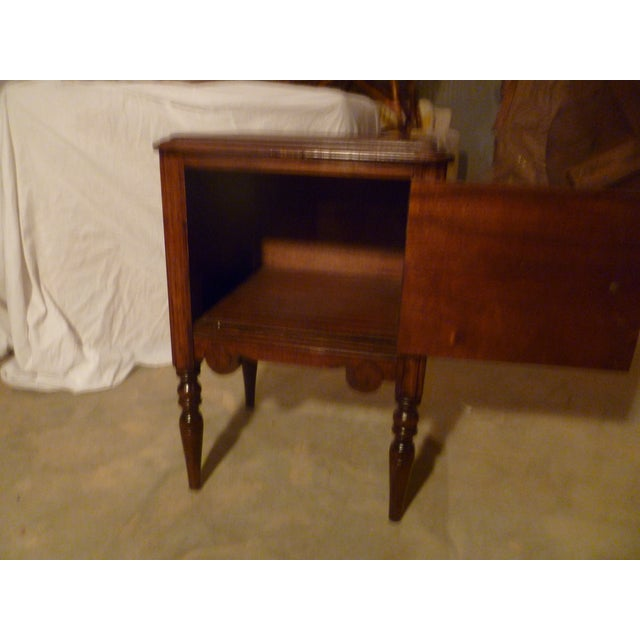 Italian 19th Century Italian Side Table With Storage Nightstand For Sale - Image 3 of 8