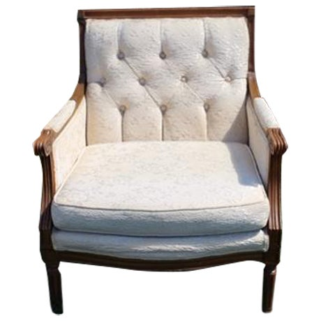Vintage French Wood Frame Chair - Image 1 of 6