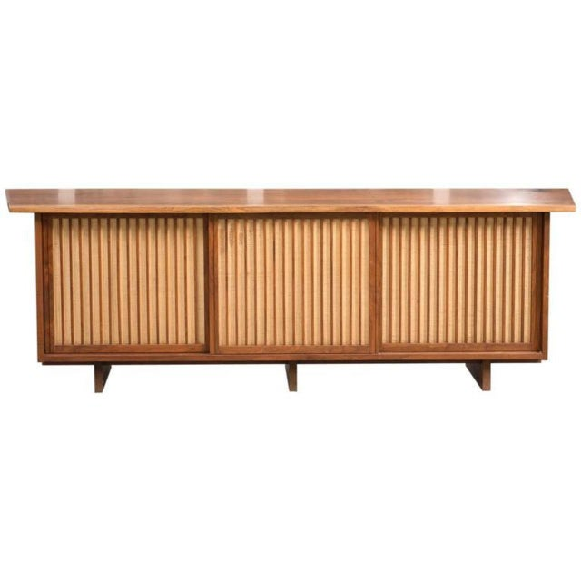 George Nakashima Triple Sliding Door Cabinet, 1968 For Sale - Image 9 of 9
