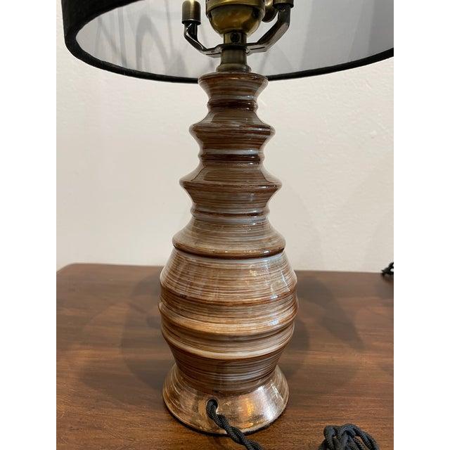 Mid-Century Modern Mid-Century Handmade Pottery Lamp For Sale - Image 3 of 9
