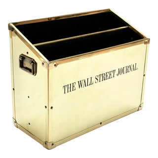 Vintage Brass Wall Street Journal Newspaper Box For Sale