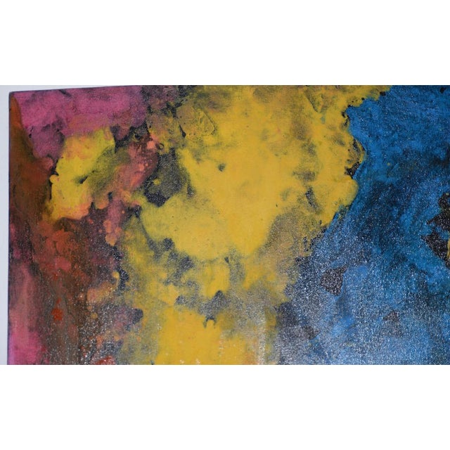 Abstract 21st C. Modernist Abstract Oil Painting by Manor Shadian (B.1931 Iran / California) For Sale - Image 3 of 12