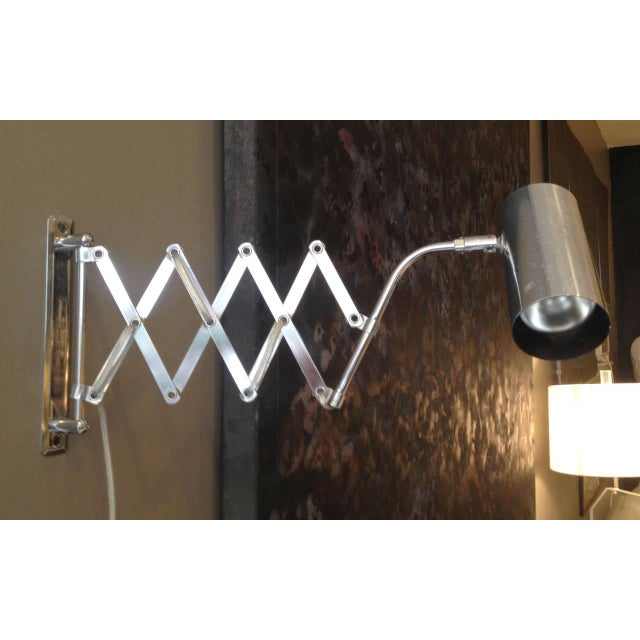 Industrial Style Koch and Lowy Accordion Sconce - Image 4 of 6