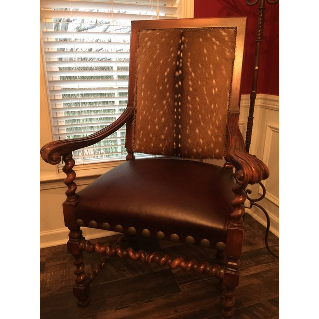 Old Hickory Tannery Dining Chairs - A Pair For Sale - Image 11 of 13