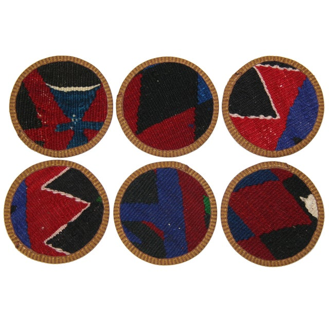 Our one-of-a-kind Kilim Coaster sets are a great addition to almost any home, and make great hostess or housewarming...